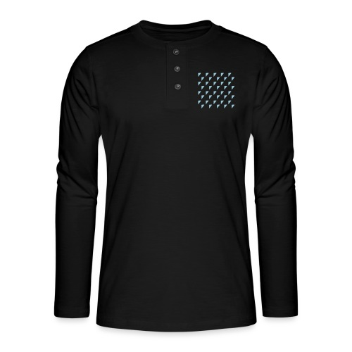 kussensloop driehoekjes - Henley shirt met lange mouwen