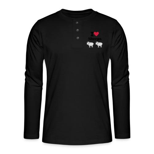 I-love-sheeps - T-shirt manches longues Henley