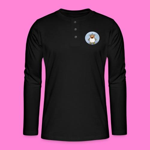Halloween-sheep - Henley shirt met lange mouwen