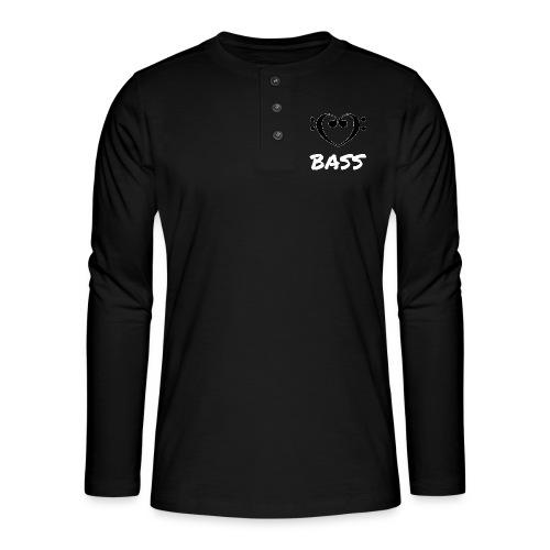 MUSIK: BASS - Henley Langarmshirt