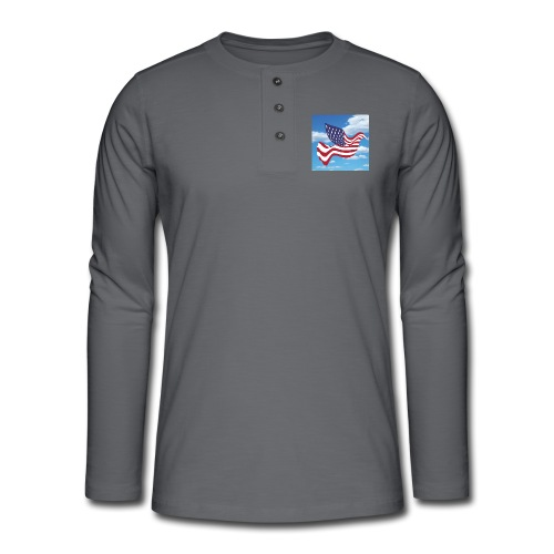 USA Spreads Peace - Henley long-sleeved shirt
