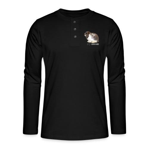 I Love Bunnies Luppis - Henley pitkähihainen paita