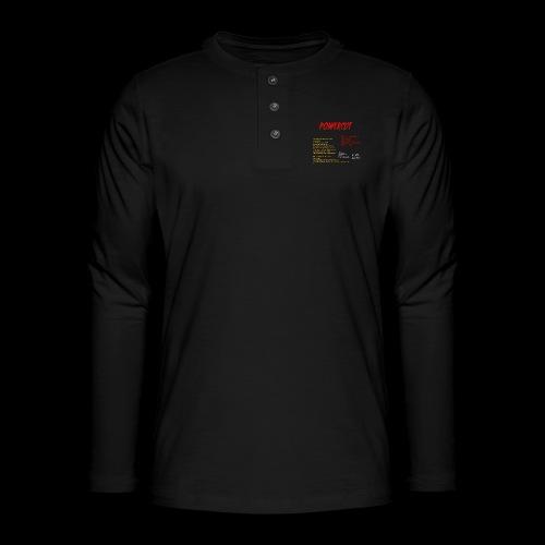 POWERCUT Script LS TEE - Henley long-sleeved shirt