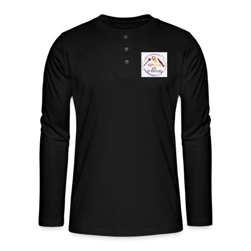 opgta logo - Henley pitkähihainen paita