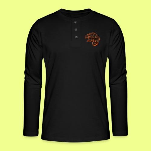 iguana - Camiseta panadera de manga larga Henley