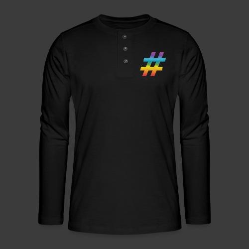 rainbow hash include - Henley long-sleeved shirt