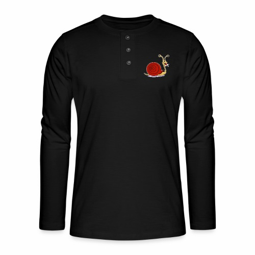 Escargot rigolo red version - T-shirt manches longues Henley