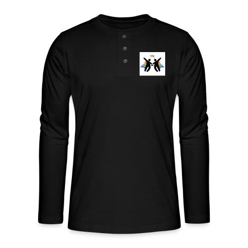 LGBT Gay - Henley T-shirt med lange ærmer