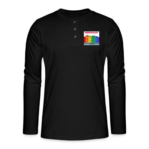 PRIDENHAGEN T-SHIRT - Henley T-shirt med lange ærmer