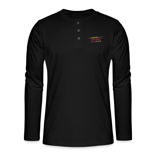 Say in English with 3D effect - Henley long-sleeved shirt