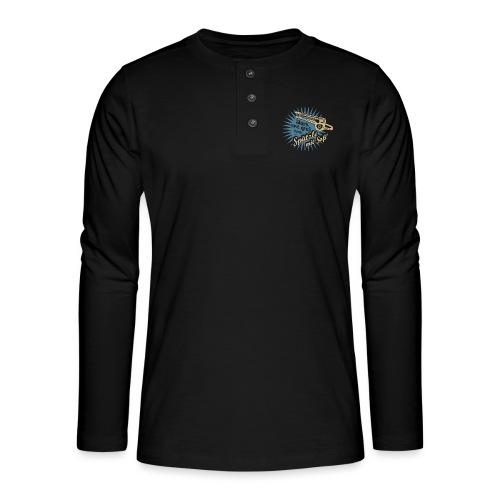 Spätzle mit Soß - Henley Langarmshirt