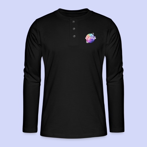 pastel rainbow, NuniDK Collection - Female top - Henley T-shirt med lange ærmer