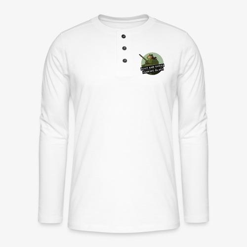logo dogs nieuw - Henley shirt met lange mouwen