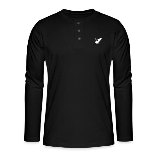 Jumping whale - white - Henley Langarmshirt