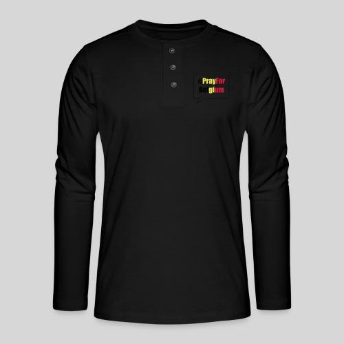 #PrayForBelgium - T-shirt manches longues Henley