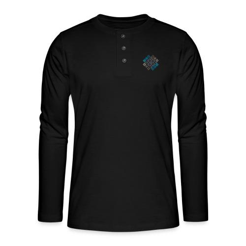 motifs23 - T-shirt manches longues Henley