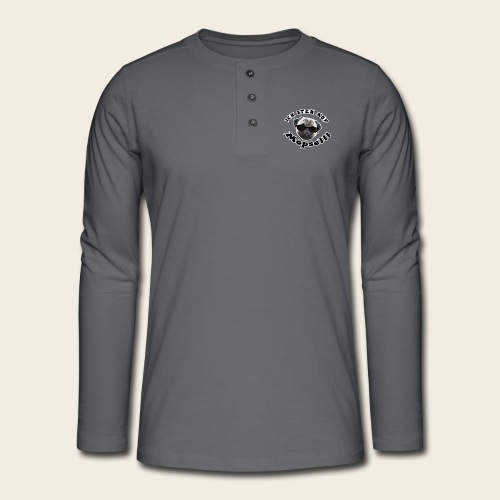 ich steh auf möpse - Henley Langarmshirt