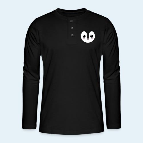 Pingüino bebé (Cachorros) - Camiseta panadera de manga larga Henley