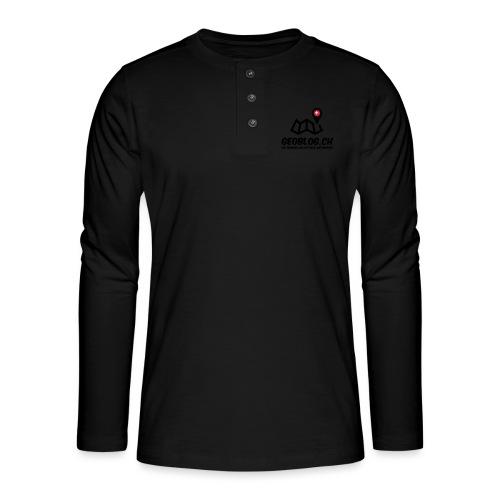 Logo+Schriftzug-hoch - Henley Langarmshirt