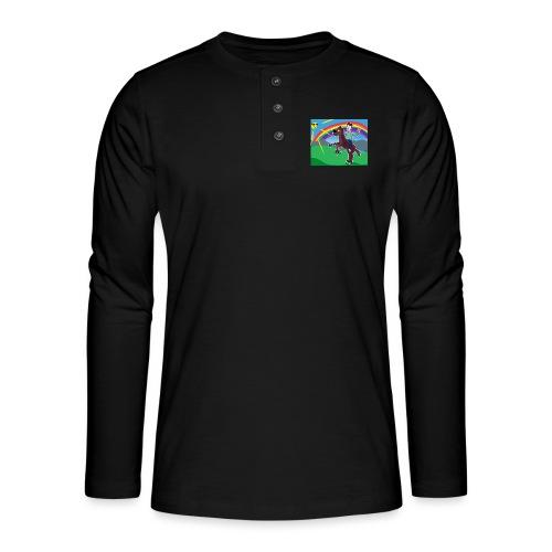 Regnbue Strandfisk Musematte - Henley langermet T-skjorte