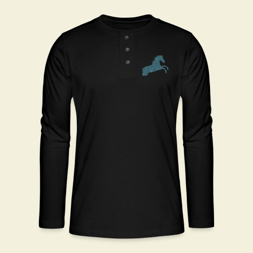 Cheval feuille - T-shirt manches longues Henley