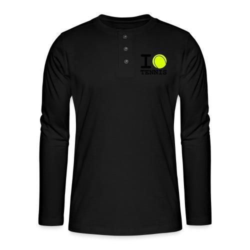 i love tennis - T-shirt manches longues Henley