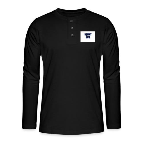 Squint Lips Merch - Henley long-sleeved shirt