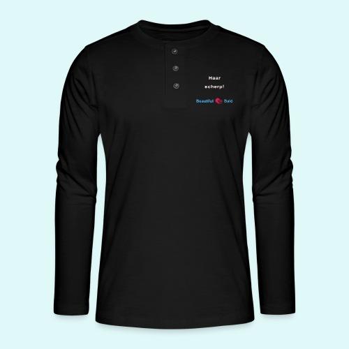Haarscherp-w - Henley shirt met lange mouwen