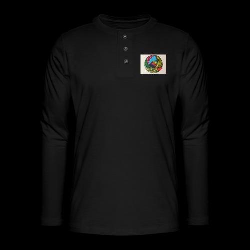 circle corlor - Henley T-shirt med lange ærmer