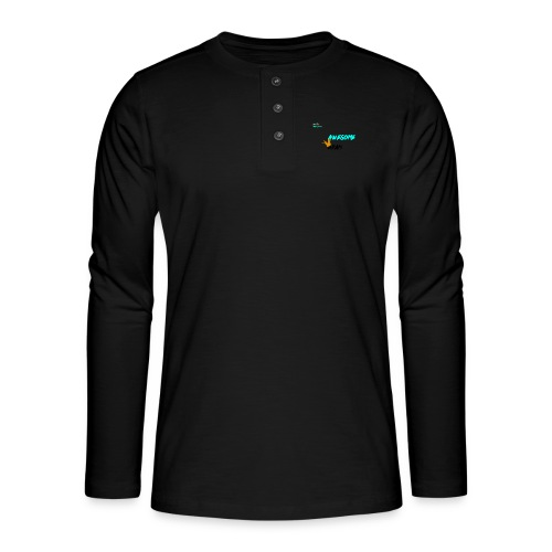 king awesome - Henley long-sleeved shirt