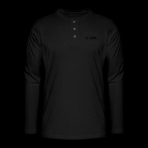 Le Zone Officiel - Henley T-shirt med lange ærmer