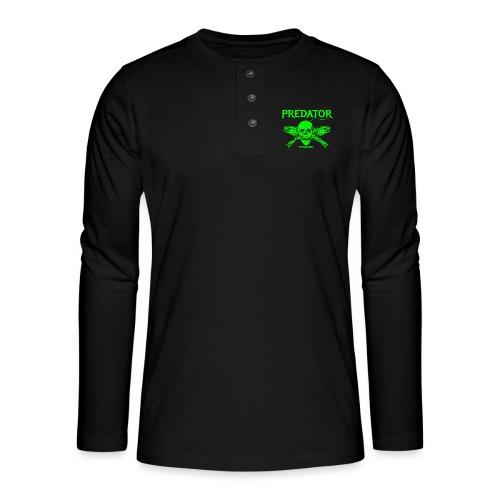 Predator fishing green - Henley Langarmshirt
