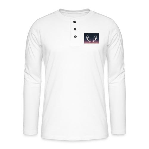 Poronsarvet taustalla - Henley pitkähihainen paita