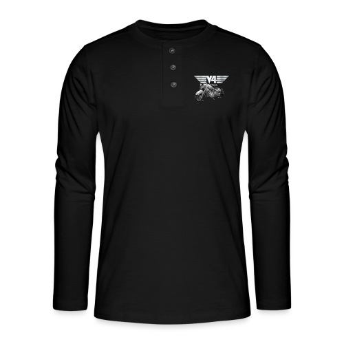 Royal Star silver Wings - Henley Langarmshirt