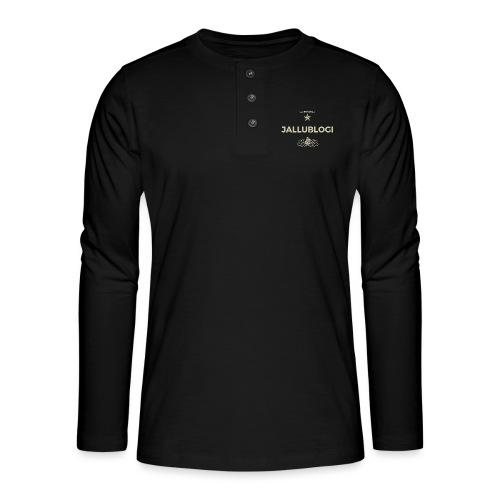 Jallublogi muki musta - Henley pitkähihainen paita