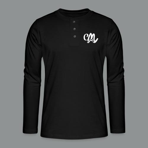 Sweater Unisex (voorkant) - Henley shirt met lange mouwen