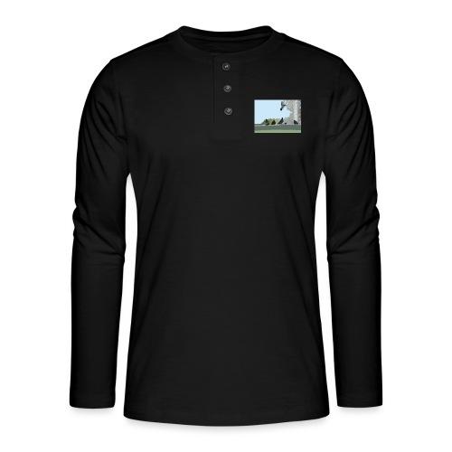 Chillin' pigeons - Henley shirt met lange mouwen