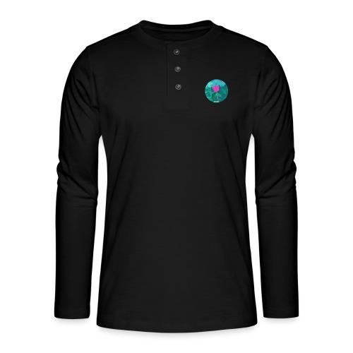Flower power - Henley shirt met lange mouwen