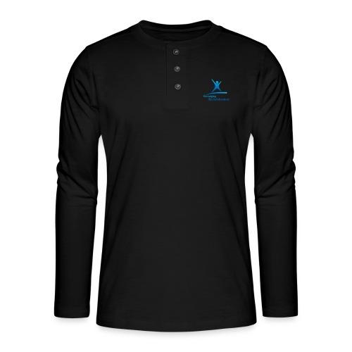 vbi logo transparant - Henley shirt met lange mouwen