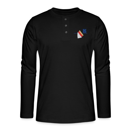 Modernes SCM Logo - Henley Langarmshirt