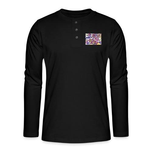 Flickenteppich - Henley Langarmshirt