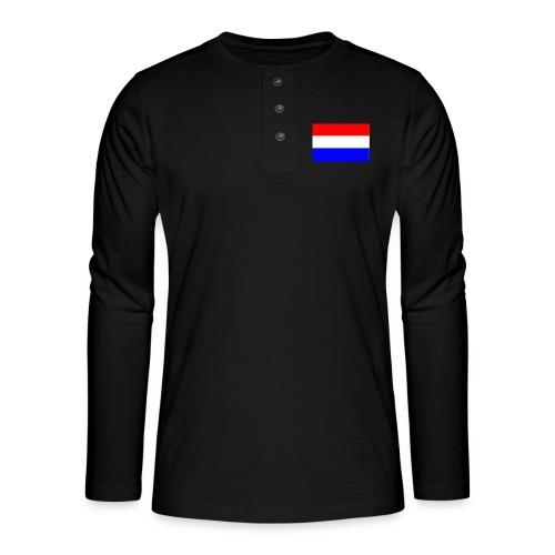 vlag nl - Henley shirt met lange mouwen