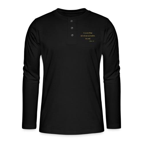 Inner Stillness - Henley long-sleeved shirt