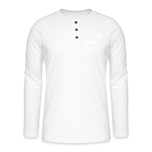 Planet Cycling Icon White - Henley long-sleeved shirt