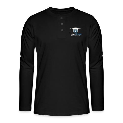 ListerDrone logo - Henley langermet T-skjorte