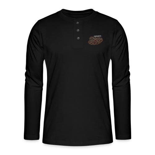 Pizzaholic - Henley langermet T-skjorte