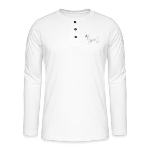 clumber spaniel - Henley T-shirt med lange ærmer