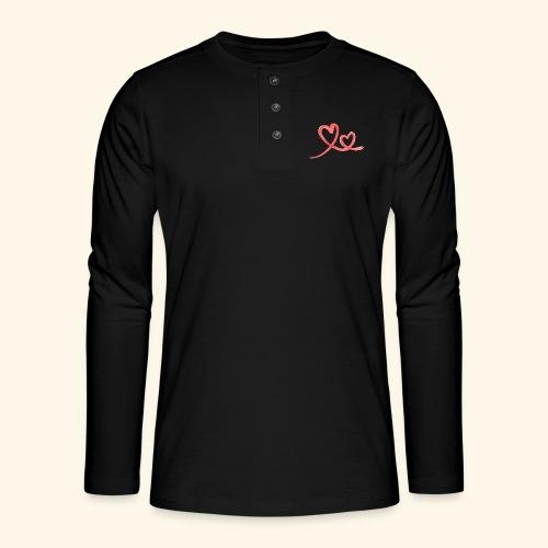 Duo Cœur Main levée - Saint Valentin - T-shirt manches longues Henley