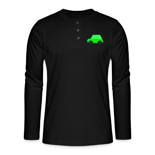 The Car Of Life - M01, Sacred Shapes, Green/R01. - Henley long-sleeved shirt