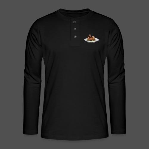 Rookworst (v) - Henley shirt met lange mouwen